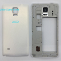 White Original Metal Middle Frame Housing Bezel With Battery Back Door Rear Cover For Samsung Galaxy