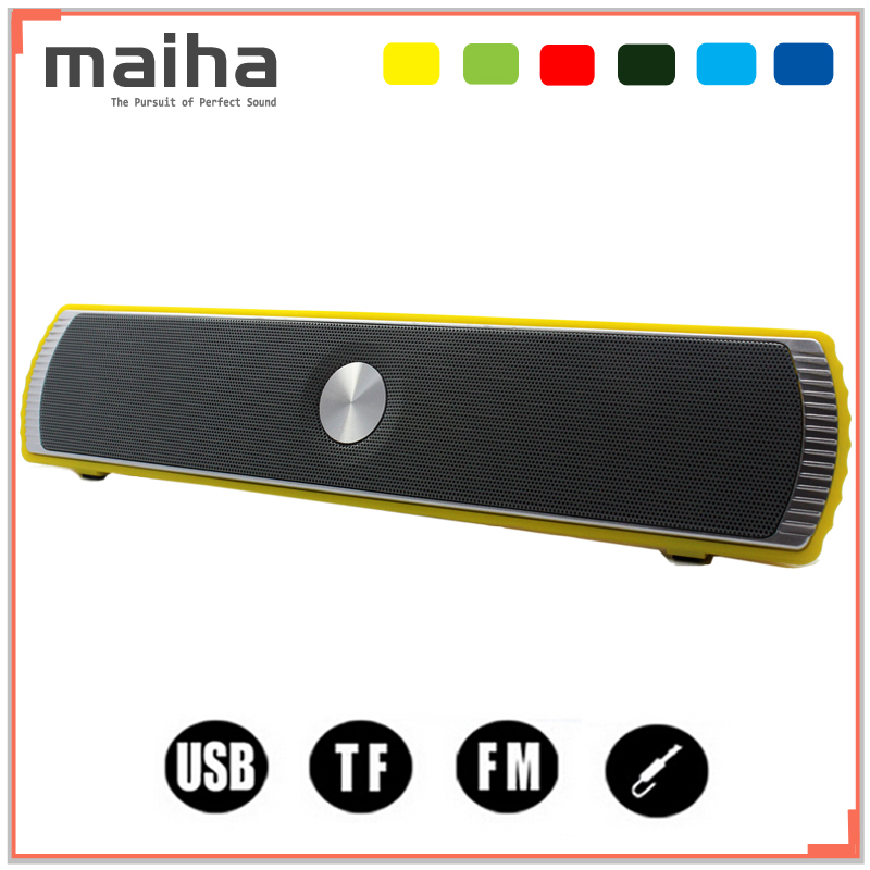 Maiha Portable Wireless Bluetooth Stereo Speaker TF AUX USB FM Radio with Built-in Mic Hands-free Good Bass HIFI Sound Speakers(China (Mainland))
