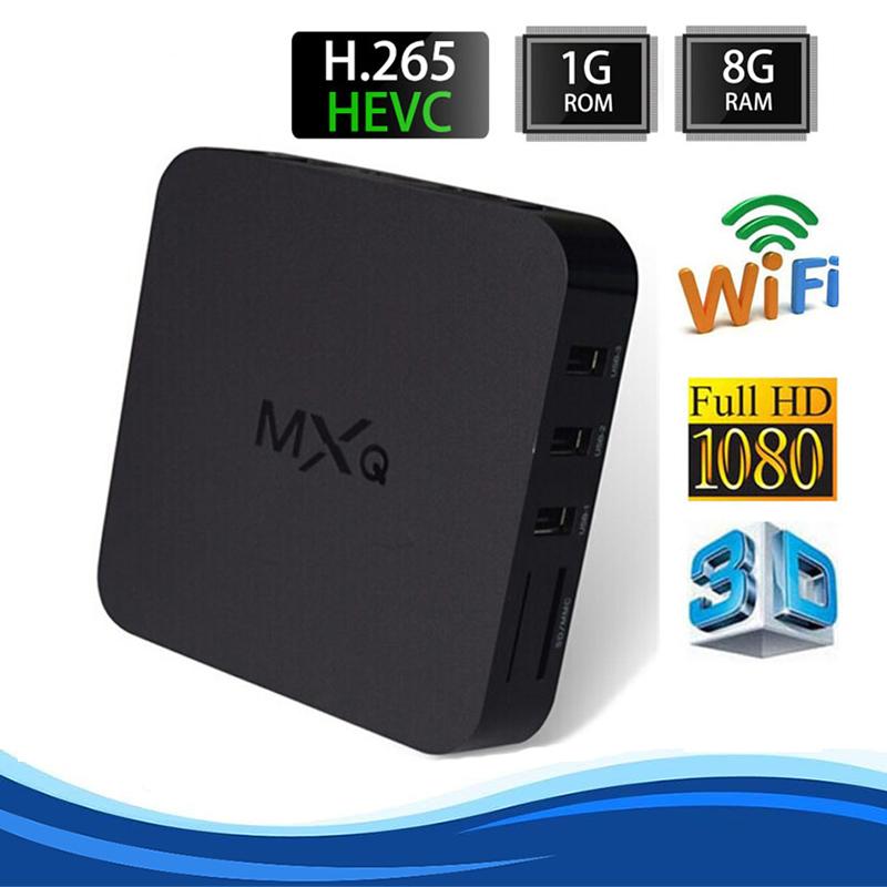 MXQ TV BOX Amlogic S805 Quad Core Android 4.4 Kitkat 4K 1GB/8GB KODI Miracast 3D ADD ONS Pre-installed Media Player<br><br>Aliexpress