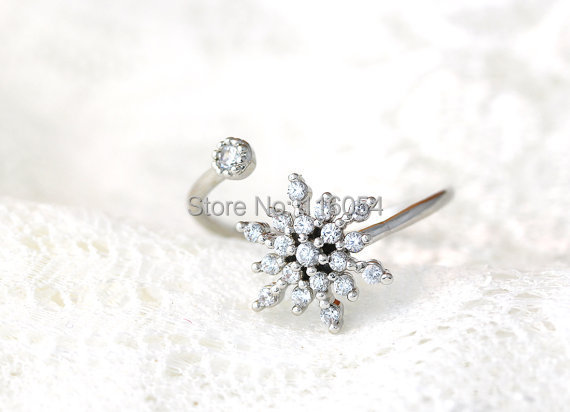 New Arrival 30Pcs/Lot  Snow Flower Ring Elsas Frozen Snowflake Ring Engagement Jewelry for Teens Girl  Wholesale Free Shipping<br><br>Aliexpress