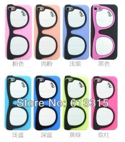 10 Victoria /s 3D Glasses Silicone Case Secret iPhone PINK silicon cover case 4 4s 4g - Adapter-cable's store