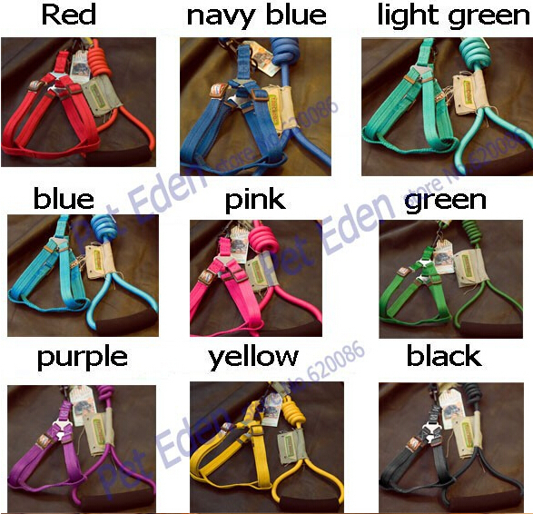 Designer,Fashion Style Nylon Dog Leads Leashes With Harness For Small Medium Large Dogs 2014 New Pets Products,Free Shipping,S~L(China (Mainland))