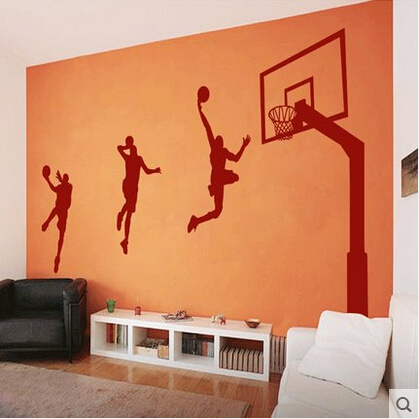 Living room Sporting Goods male student dormitory bedroom dormitory school sports stadium filled Basketball Wall Stickers(China (Mainland))