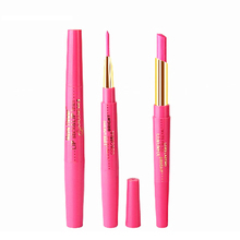 New Dual Purpose Lips Makeup Lipstick & Lip Liner Waterproof Long Lasting Lipliner Door Lip Stick Marker Pink Pencil Cosmetic