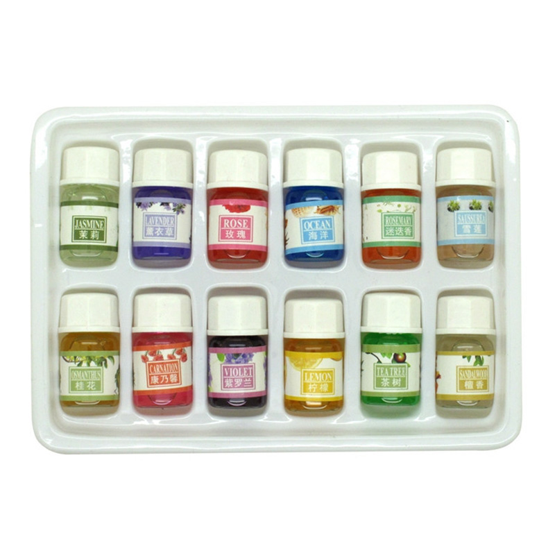 12 Pcs/Pack Essential Oils For Aromatherapy Spa Bath Massage Skin Care Lavender Oil With 12 Kinds of Fragrance #83732(China (Mainland))