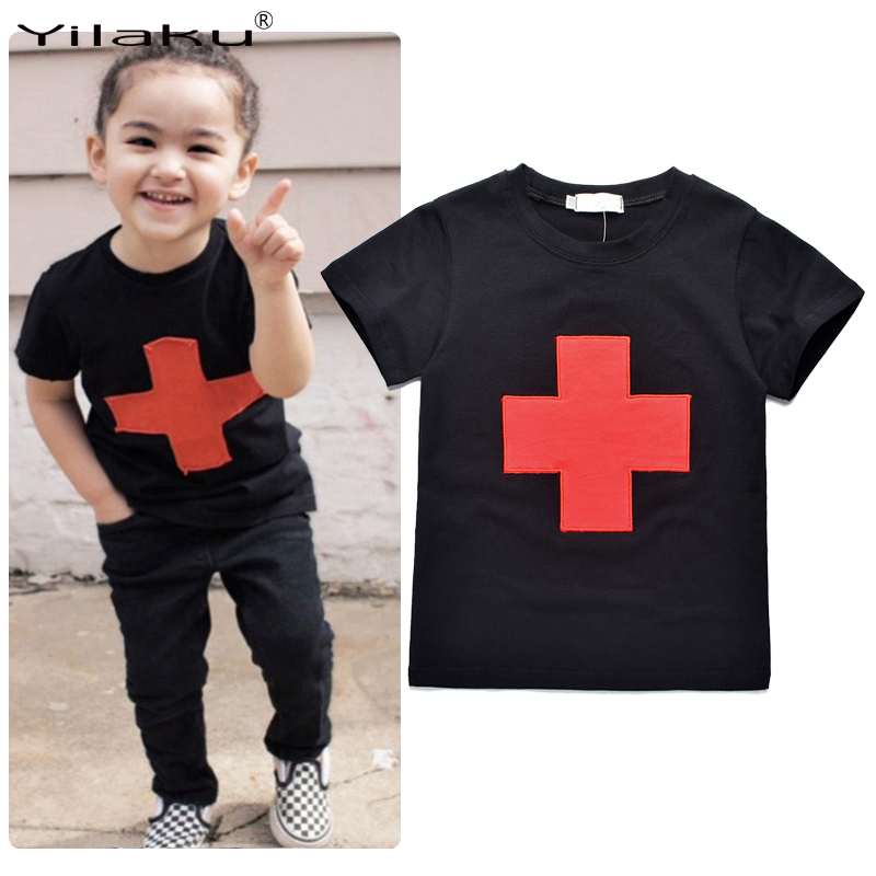 Hot Sale 2016 Boys T Shirt Kids Clothes Cotton Cross Printing Boy Tops Tees 3 Colors Boys T-shirts Kids Summer Clothes CG051(China (Mainland))