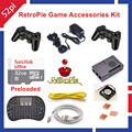 Raspberry Pi 3 Model B 32GB RetroPie Game Accessories Kit Wireless Controllers Gamepad Joypad Joystick
