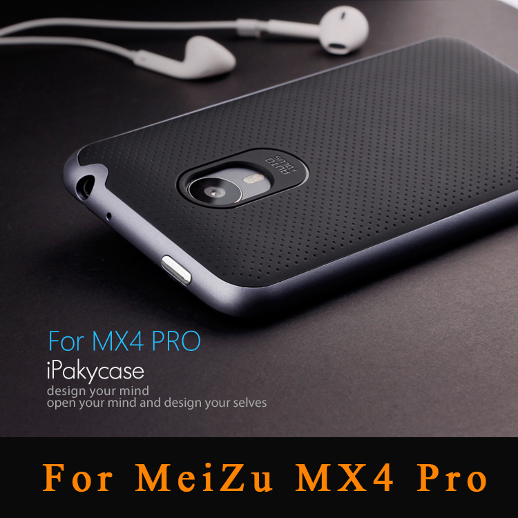 Top quality slim design Meizu MX4 Pro case Armor Neo Hybrid silicone cover + PC Frame for meizu mx4 pro Shockproof Phone cases(China (Mainland))