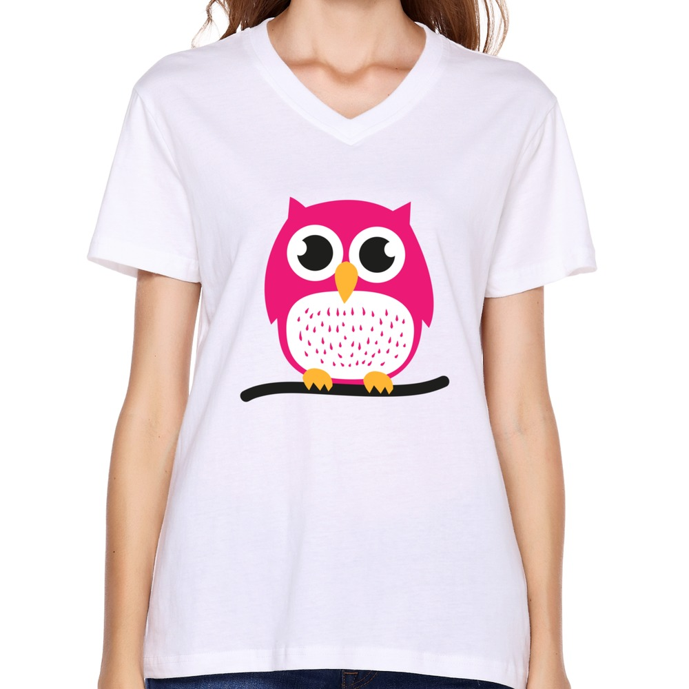 Design artist unique women tee shirt sport sweet cute owl for Designer tee shirts womens