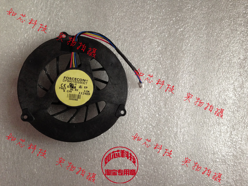 New Original FOR Dell M4500 laptop CPU cooling fan manufacturers DFB601505M30T F9Q7(China (Mainland))