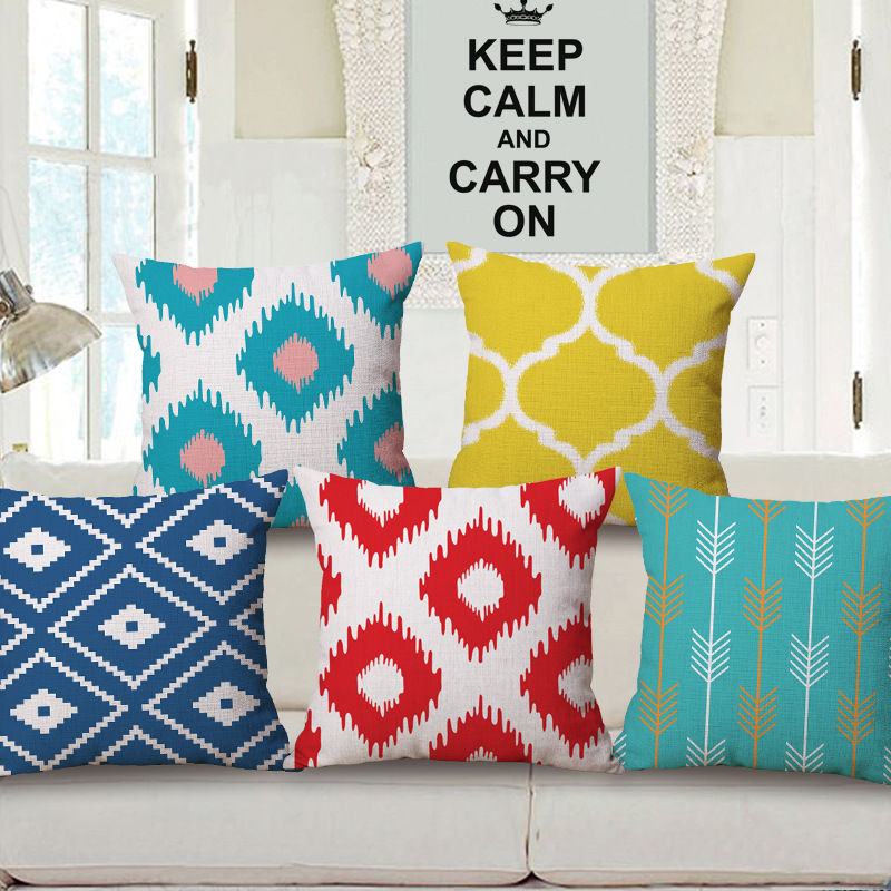 cottonlinen geometric decorative throw pillows home decor living room