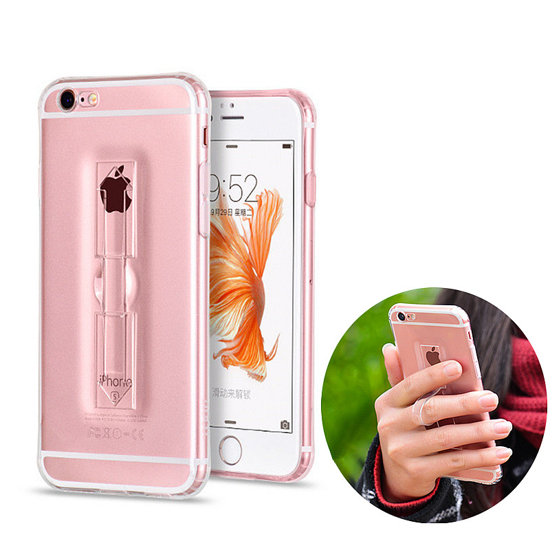 Unique Ring Antiskid Design Protective Shell TPU Airbag Anti fall for iPhone 6 6s Plus Protector Case MobilePhone Protection Bag(China (Mainland))