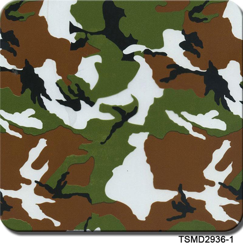 TSAUTOP 1m*10m TSD2936-1 Camo Green Brown White 3D Digital Camouflage Pattern Water Transfer Printing Film Hydrographic Films(China (Mainland))