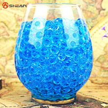 Blue Transparent color 100pcs/Bag Crystal Mud Soil Water Beads Bio Gel Ball For Flower/Weeding/Deraction(China (Mainland))