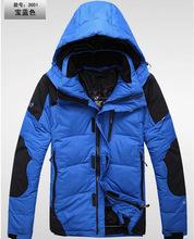 2014 New Fashion Men'S Outdoors Medium Long Down Jacket Men Winter Slim Thickening Duck Down Coat Outwear Free Shipping H2766
