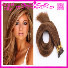 Christmas Hair,18-28 Remy Stick/I Tip Hair Extensions Silky Straight Brazilian pre bonded Hair 1G/S 100G/PC 300G STOCK Free Ship