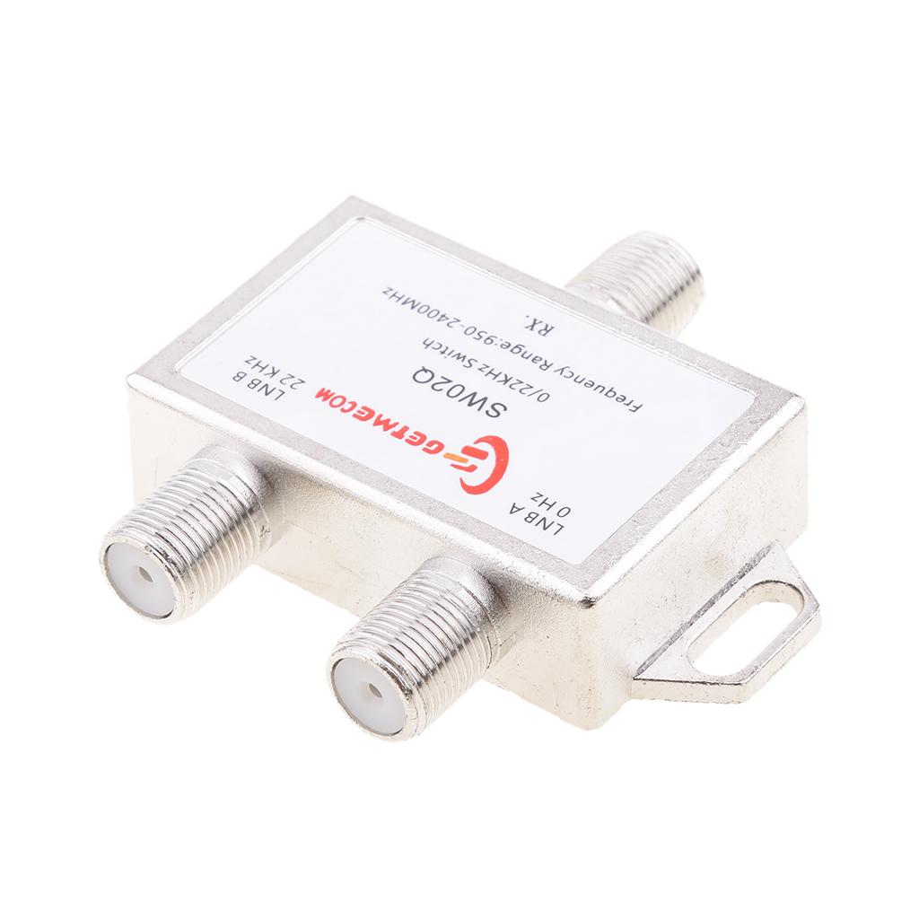 2x1 DiSEqC LNB Tone Satellite Multi FTA Switch 0/22KHz LNBF Multi Switch