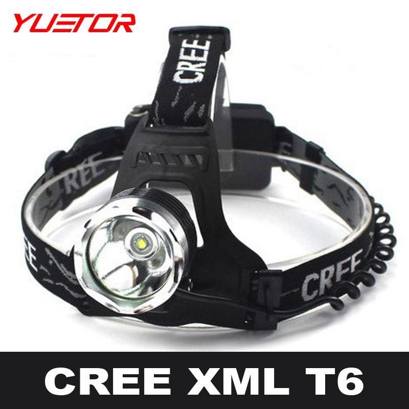 Brand YUETOR high power headlamp cree t6 3 modes 1000lm 18650 headllight led camping fishing bike bicycle cycling head torch(China (Mainland))
