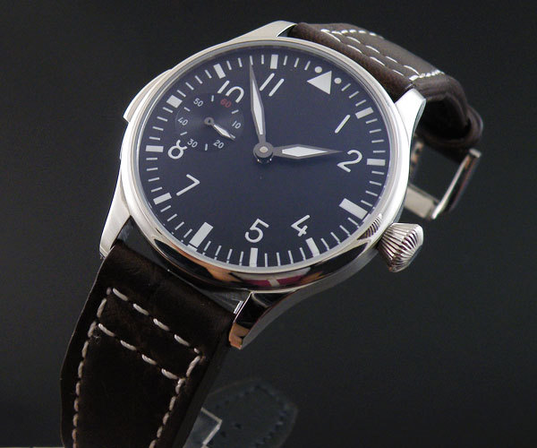 Parnis 44mm seagull 6497 hand winding flight m222s series manual chain mechanical male watche - Station store