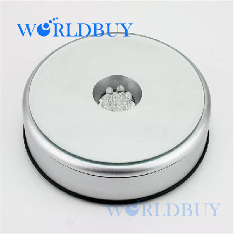 High Quality 7 LED Light Unique Rotating Crystal Display Base Stand Free Shipping UPS DHL FEDEX EMS HKPAM CPAM(China (Mainland))
