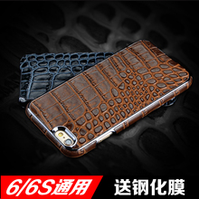 For Apple 6plus mobile phone sets for iPhone6s Genuine leather thin protective shell phone cases male crocodile leather business