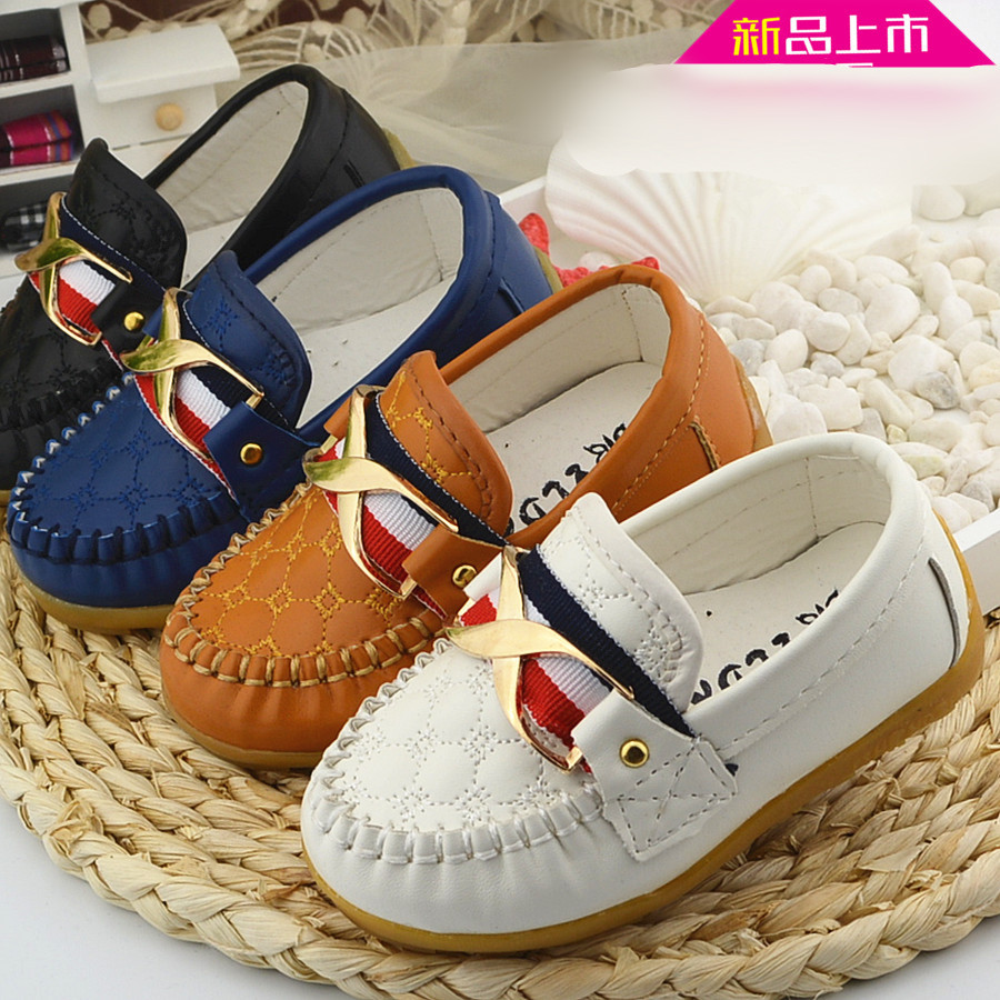 2016 New Designer Faux Leather infant Children Sneakers Soft Boy Slip-on Shoes, Baby Kids Boat Shoes Toddler Flats Loafers Shoes(China (Mainland))