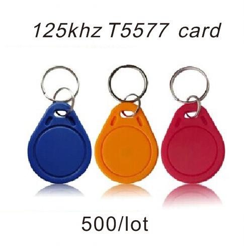 500pcs RFID Key Fobs chain 125KHz Proximity ABS Key Tags Rewritable Access Control ATMEL T5577 Hotel Door Lock.(China (Mainland))