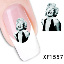 1 Pcs Fashion Girl Design New Arrival Water Transfer Nail Art Stickers Decal + Free Shipping