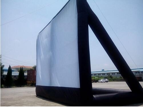 Outdoor Inflatable Screen With Blower 9*7m Giant Inflatable Movie Screen,(China (Mainland))