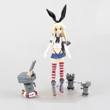 Anime Figure 16 CM Kantai Collection Shimakaze Figma 214 PVC Action Figure Game Figure Model Doll Toy Collectibles Brinquedos