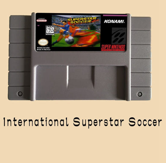 International Superstar Soccer 16 bit Big Gray Game Card For USA NTSC Game Player(China (Mainland))