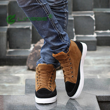 Plus Size Men Genuine Leather Boots European Waterproof 2016 New Winter Cow Split Plush Lining Lace-up Driving Flat Shoes Yeezy(China (Mainland))