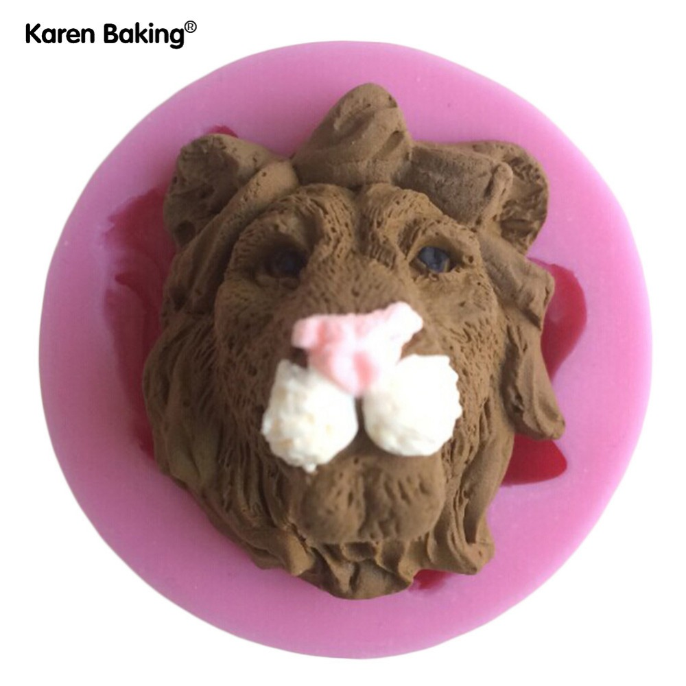 Fierce Animal Shape Silicone Mold Soap, Fondant Candle Molds, Sugar Craft Tools, Chocolate Moulds, Silicone Molds For Cake(China (Mainland))