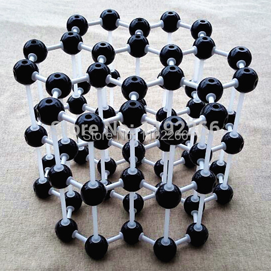 Graphite model LZ-23210 3layers 7 carbon hexagons Graphite crystal structure model Chemical teaching free shipping(China (Mainland))