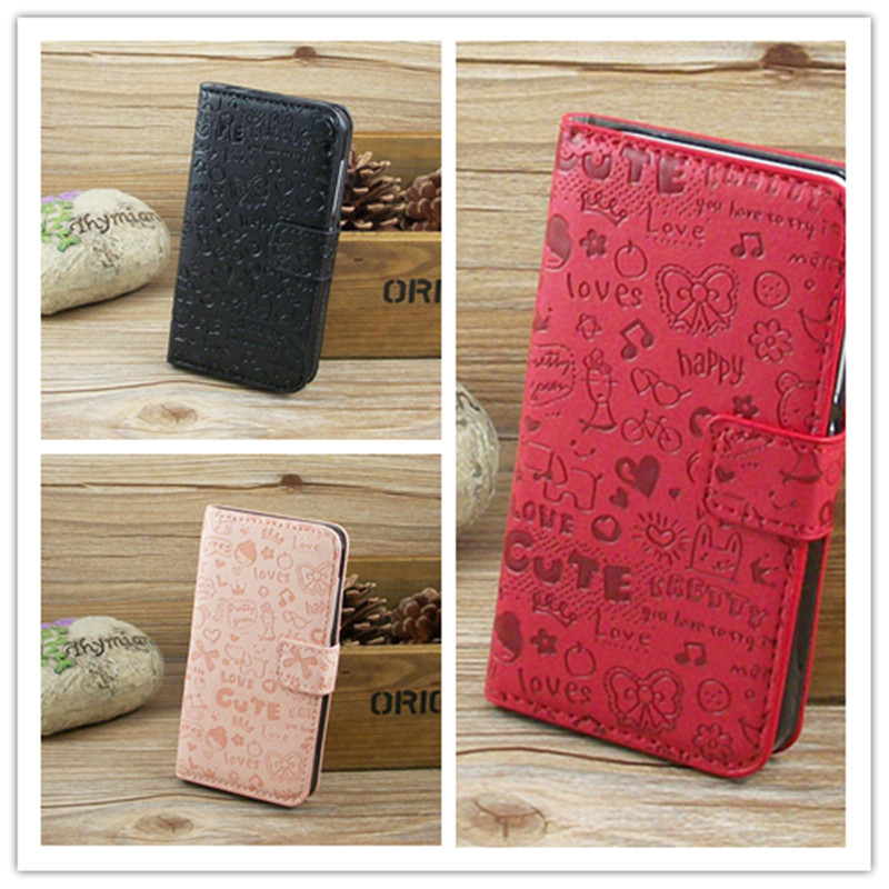 Magic Girl Leather Case Holder Credit Card For Alcatel One Touch Pop 2 4.5 5042 5042X 5042D 5042A 5042W 5042E m5 freeshipping(China (Mainland))