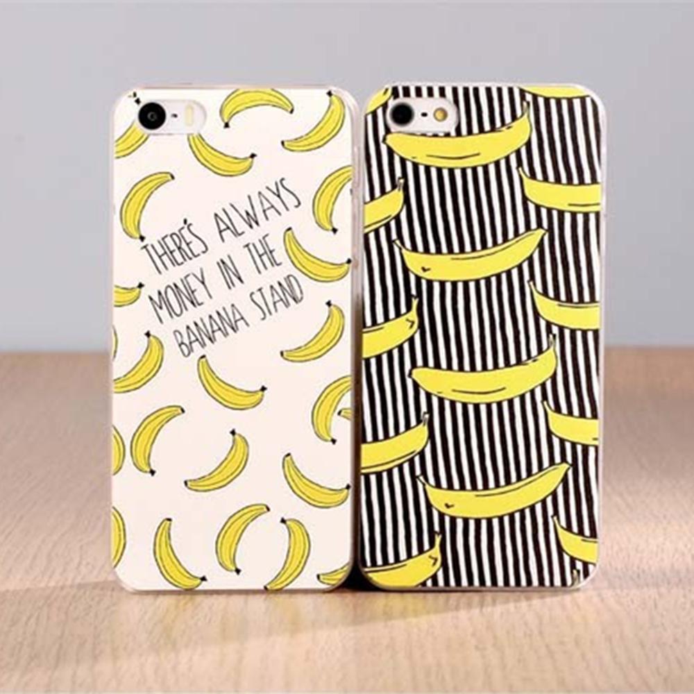 Fruit Banana Fashion Hard Plastic Case Cover For Apple iPhone 4 4S 5 5S 5C 6 6 Plus