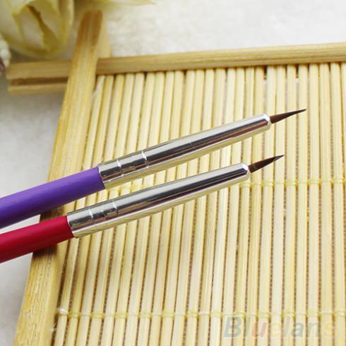12 Pcs Nail Art Designer lápis escova pontilhado pintura ferramenta acrílico 1WNU