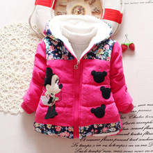 Hot Sale 2015 font b Winter b font Baby Girls Coats Kids Minnie font b Jackets