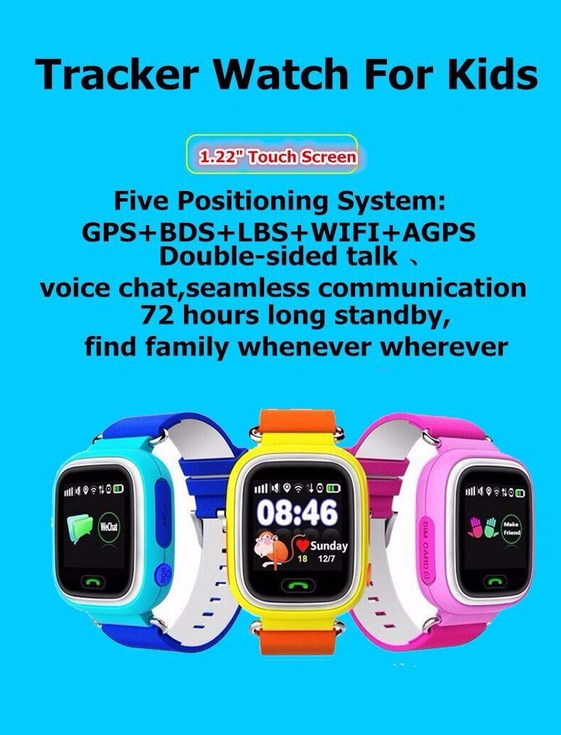 image for GPS Smart Watch Baby Watch Q90 With Wifi  Touch Screen SOS Call Locati