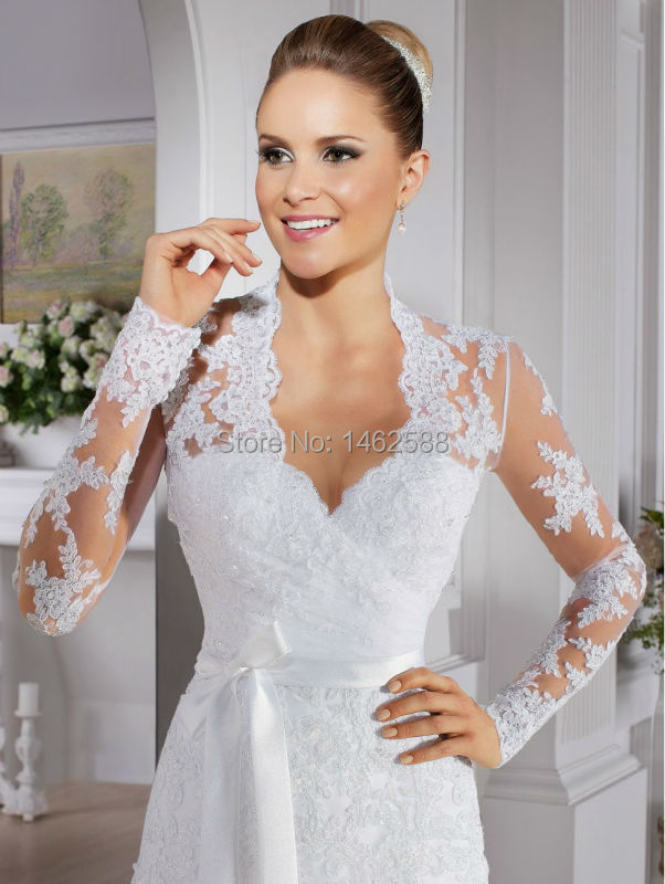 Robe De Mariage Vintage Long Sleeves Lace Mermaid Wedding Dress 2015 ...