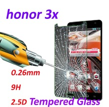0.26mm 9H Tempered Glass screen protector phone cases 2.5D protective film For Huawei Honor 3X G750