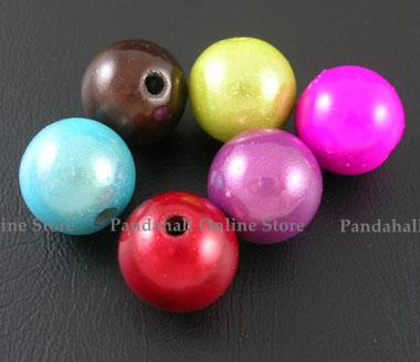 Spray Painted Miracle Acrylic Beads, ABS, Bead in Bead, Round, Mixed Color, 12mm, Hole: 2mm; about 530pcs/500g(China (Mainland))