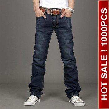 Hot sale jeans pants men branded jeans straight man trouser denim overalls men relaxed jeans men blue washed 2013 trend 28-38