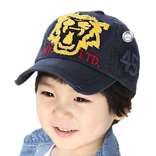 Retail Unisex Children Baseball Caps Tiger Head Patch Adjustable Kids Boys Girls Spring Autumn Cotton Baseball Hats MZ1395(China (Mainland))
