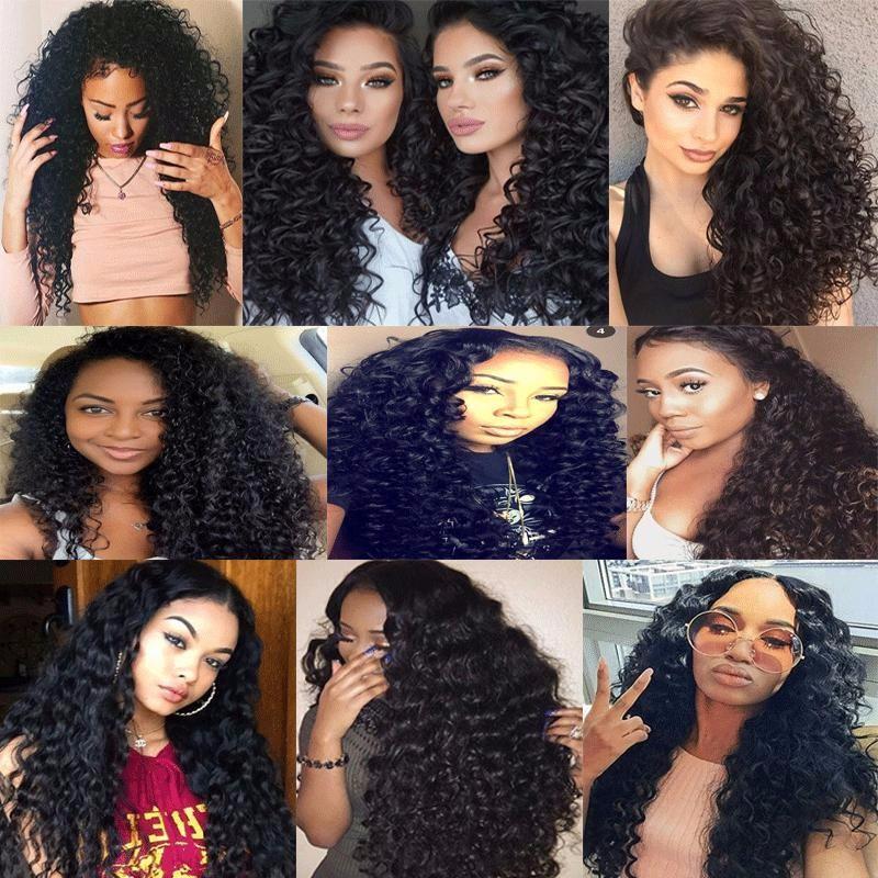 Thick Full 150 density Virgin Brazilian Human Hair Full Lace Wigs curly virgin human hair Bleach Knots Glueless Full Lace Wigs