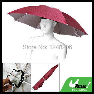 Red Umbrella Hat Golf Fishing Camping Headwear Cap Red Discount 50(China (Mainland))
