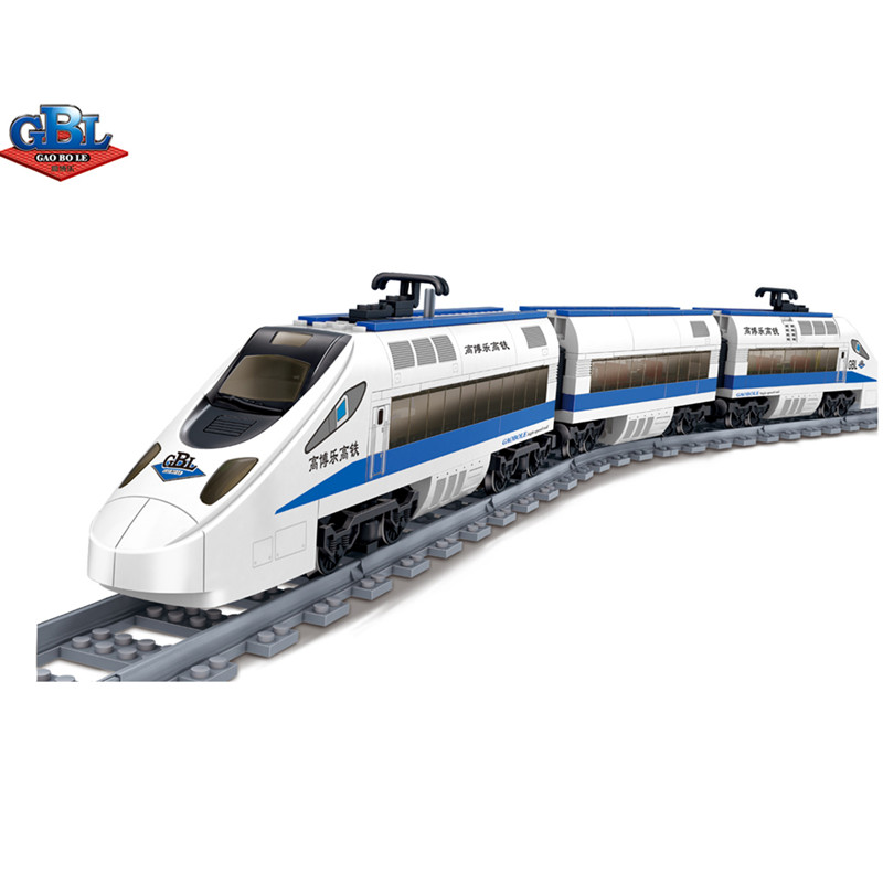 Фотография New Kazi Battery Powered Electric Train High-speed Rail Building Block Toy Compatible with all brands Children Gift