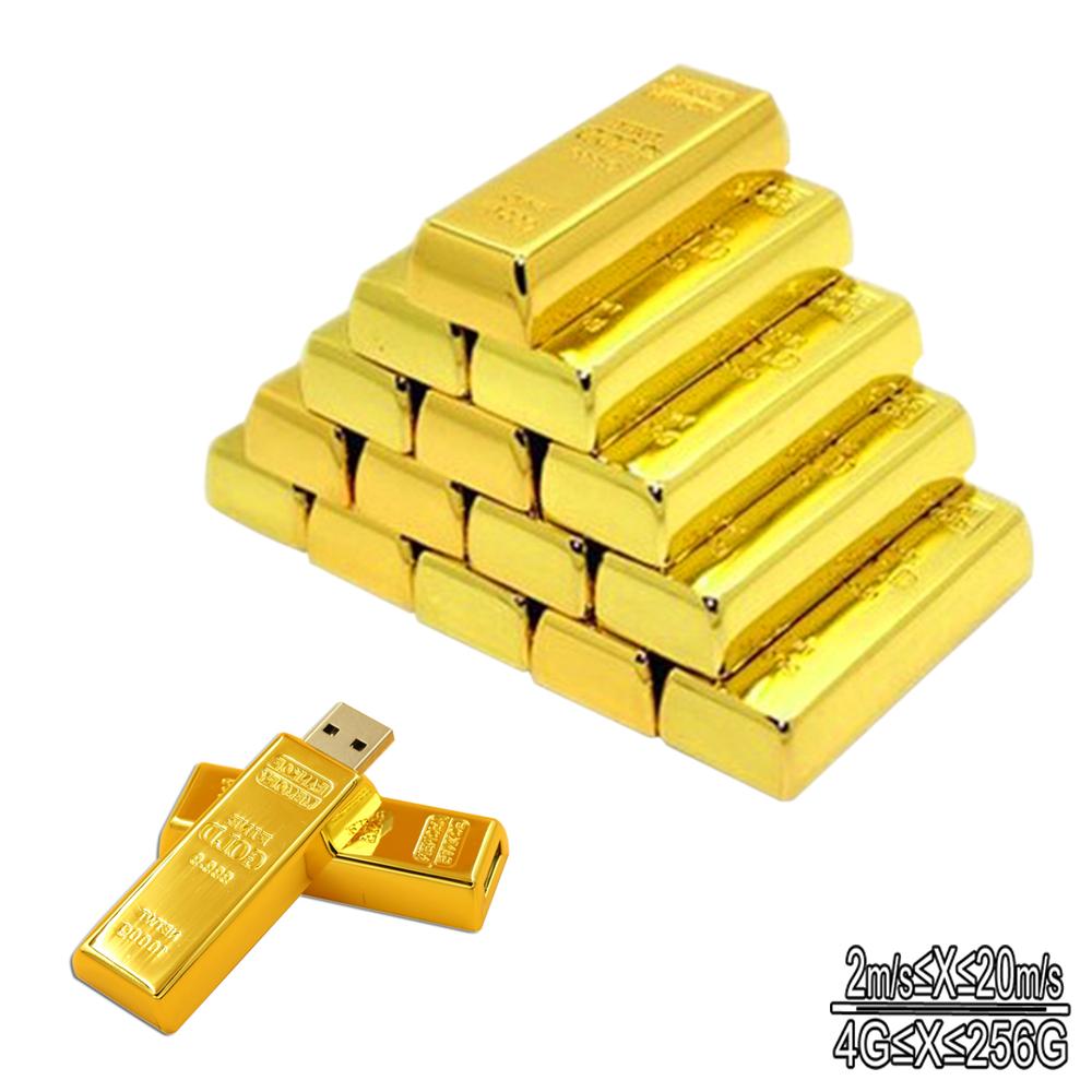 Fashion bullion big gold bar USB Flash Drive Pen flash memory Stick Drives Download 64G 32GB 16GB 8GB 4GB pendrive usb thumb(China (Mainland))