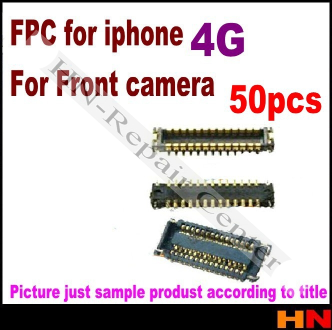 50 pcs For iphone 4 FPC Connector front camera small front camera on motherboard logic board Mobile Phone Flex Cables(China (Mainland))