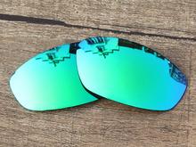Emerald Green Mirror Polarized Replacement Lenses For Whisker Sunglasses Frame 100% UVA & UVB Protection